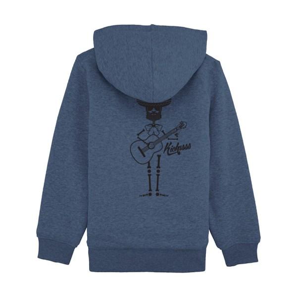 Sweat enfant doublé sherpa Kickasss Mariachi (dark heather blue)