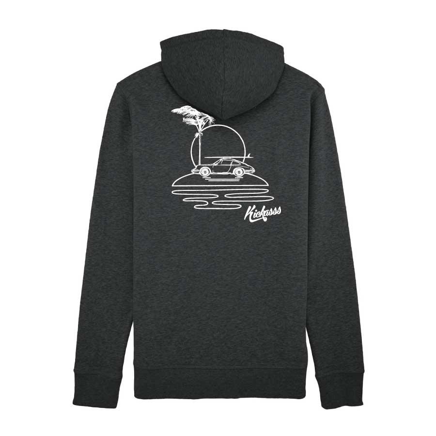 Sweat-shirt à capuche zippé pour homme Kickasss All I Need (dark heather grey)