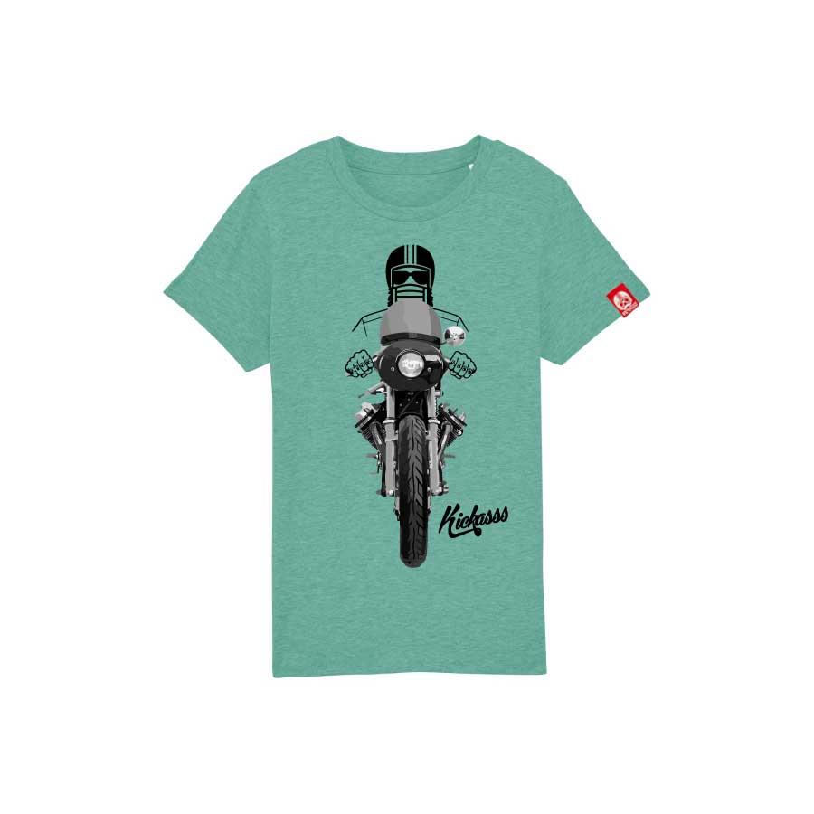 T-shirt enfant Kickasss Driver 20 (mid heather green)