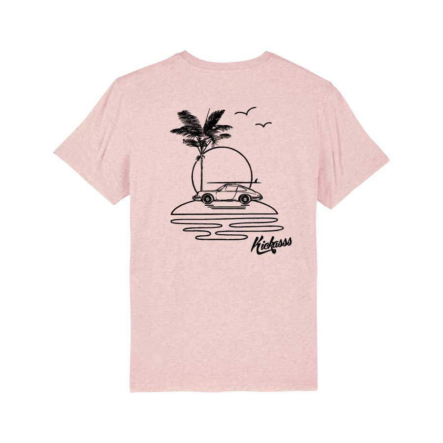 T-shirt numéroté en coton bio Kickasss All I Need (cream heather pink)