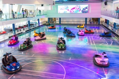 bumper cars on board - a world first!