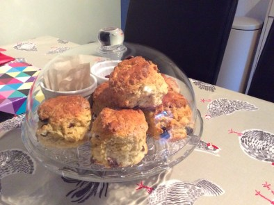 scones on a plate