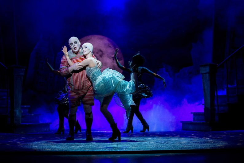Les Dennis and Jessica Buckby in THE ADDAMS FAMILY. Credit Matt Martin