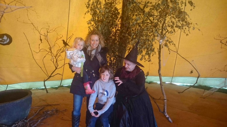 Tilly, Michelle & Archie in the Witch's Grotto