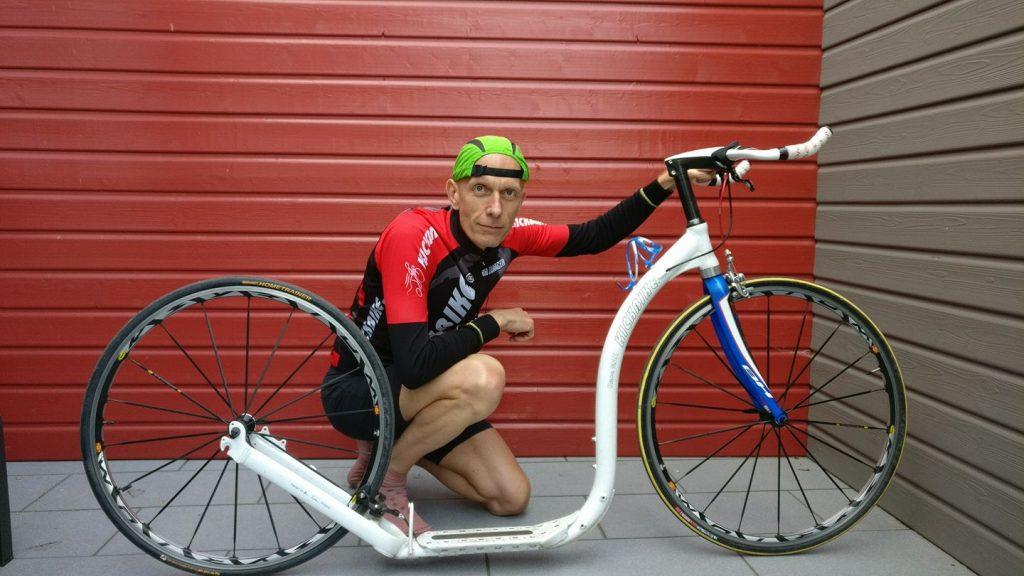 Xavier MARCHAND et son Kickbike Racemax 2x28