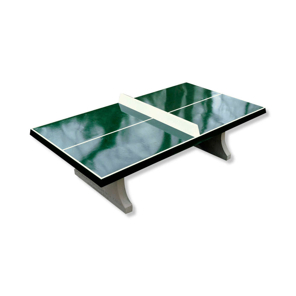 Concrete Ping Pong Table Cornered Outdoor Kickerkult Onlineshop