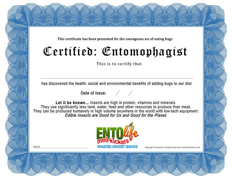 Entomophagist Certification