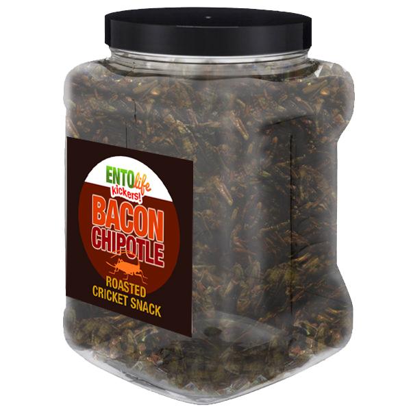 Jar 1lb Crickets Bacon Chipotle Flavor