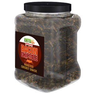 Jar 1lb Crickets Bacon Chipotle Flavor