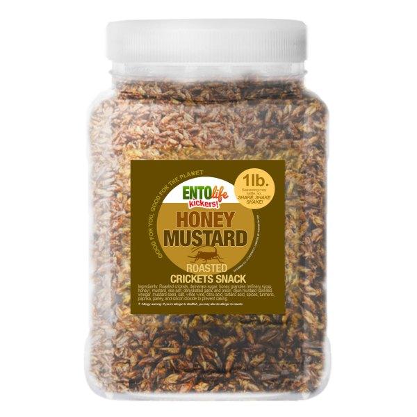 Pound Edible Crickets Honey Mustard Flavor