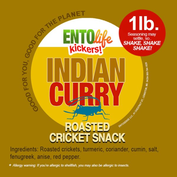 Indian Curry Crickets Label