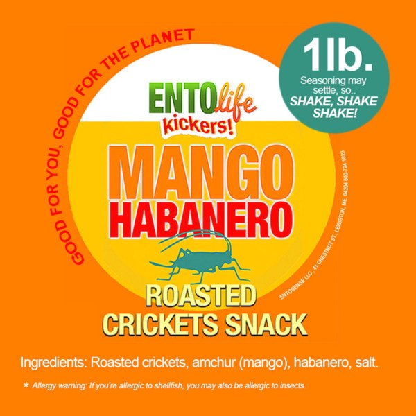 Mango Habanero Crickets Label