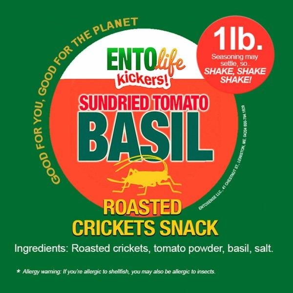 Sundried Tomato Basil Crickets Label