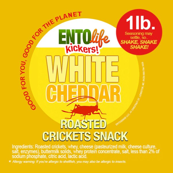 White Cheddar Crickets Label