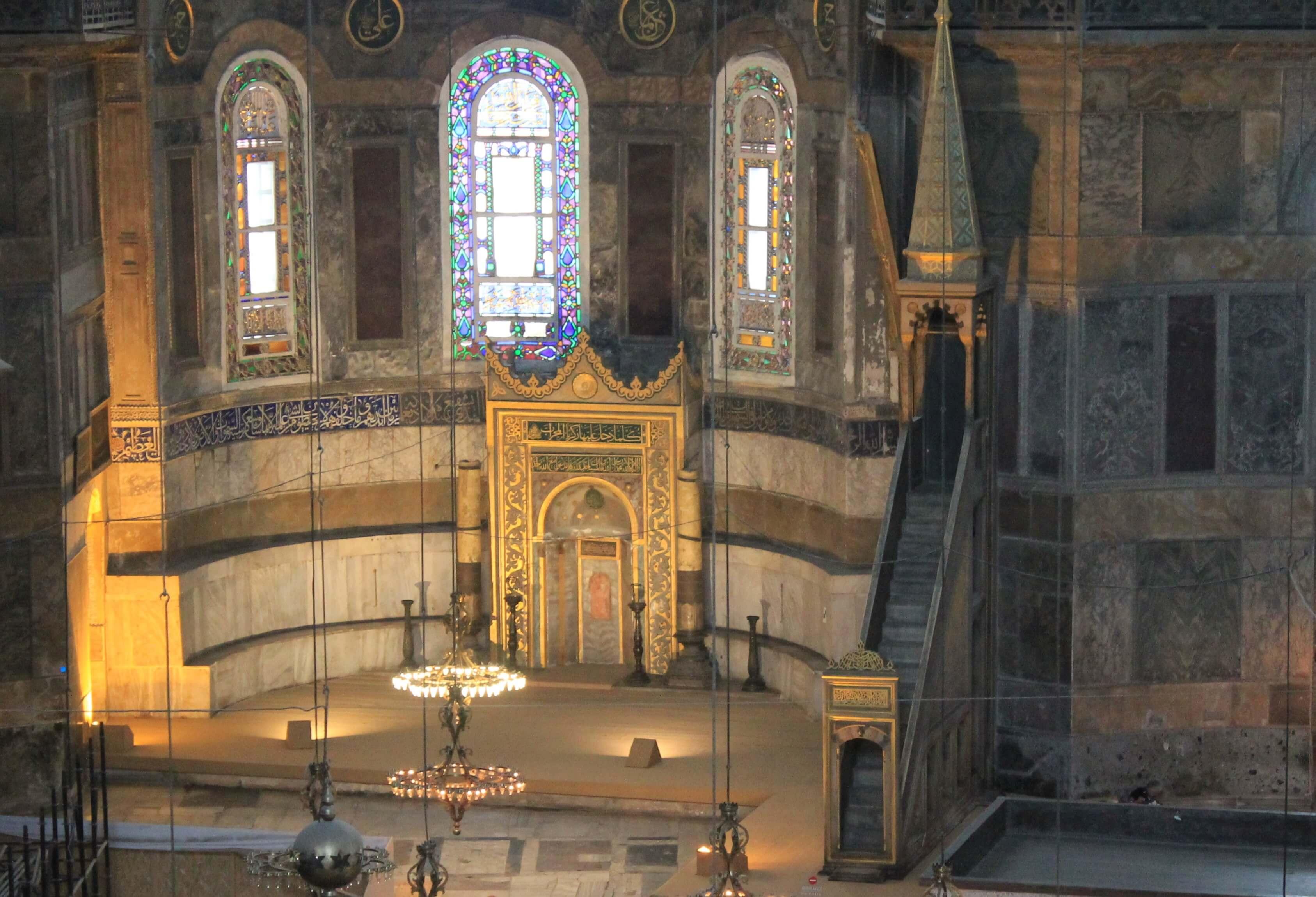 Hagia Sophia_mihrab & minbar
