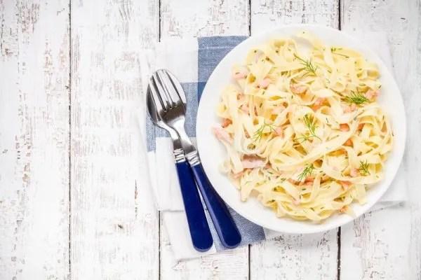 Creamy fresh-salmon pasta | Kicking Back the Pebbles