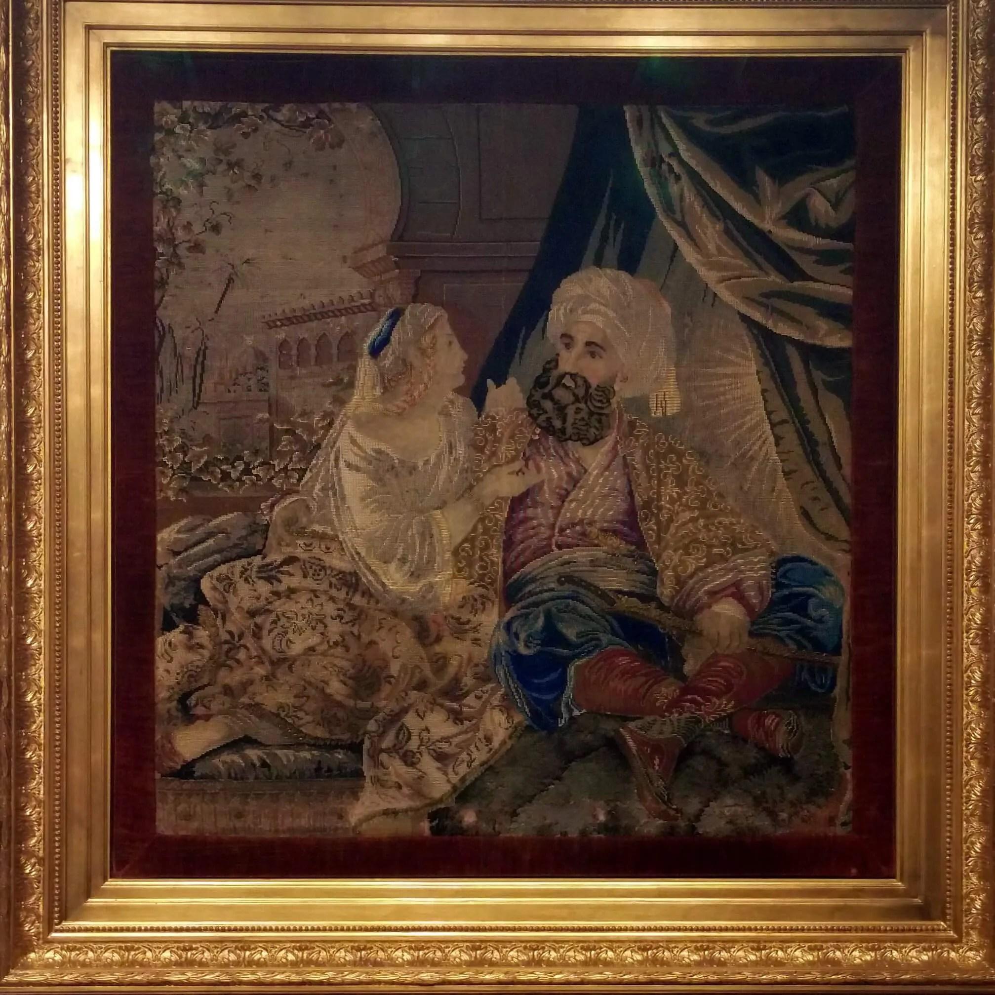 Ali Pasha & Kyra Vassiliki tapestry - Ali Pasha Museum, Ioannina, Greece | Kicking Back the Pebbles