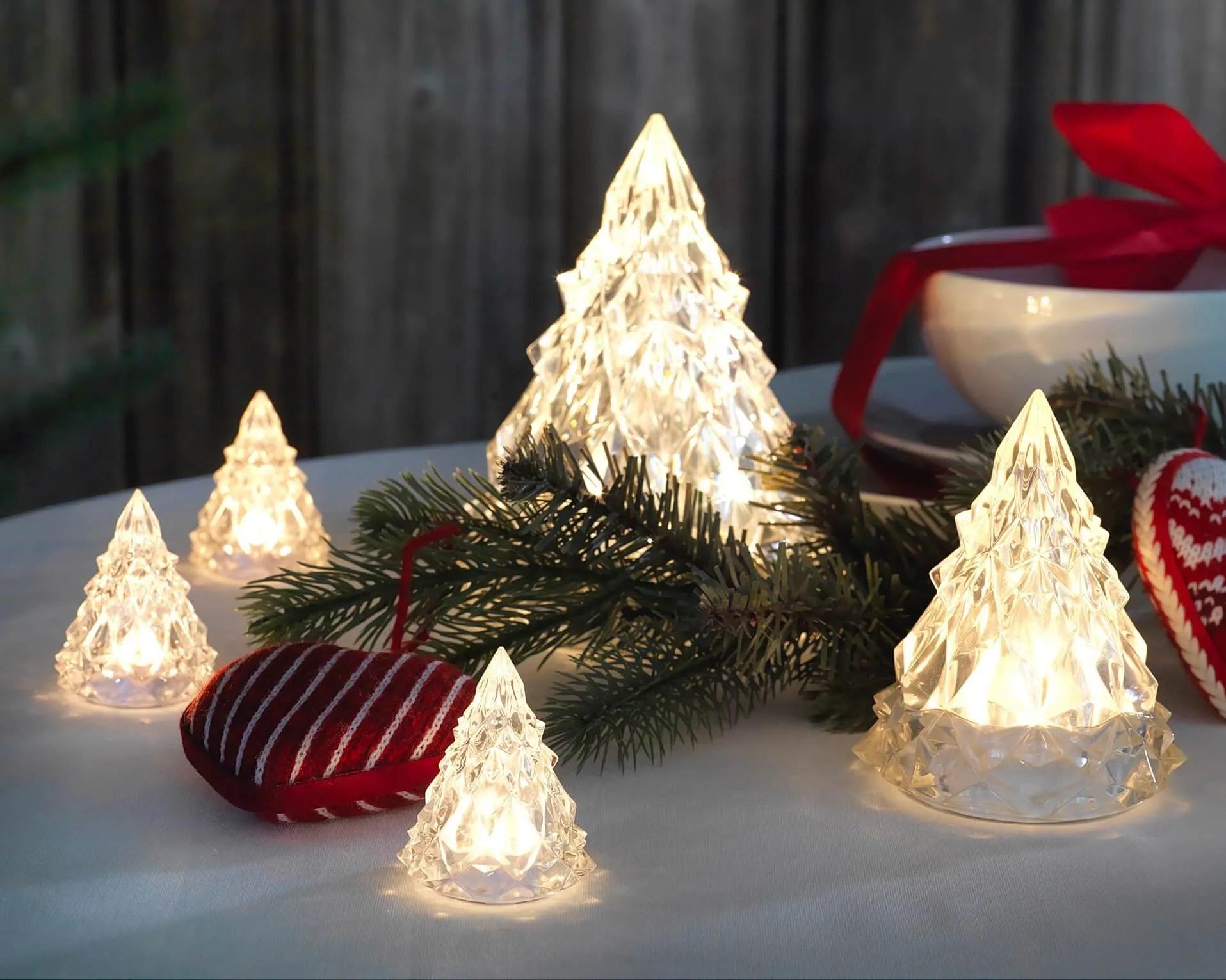 LED decorative acrylic Christmas trees   IKEA