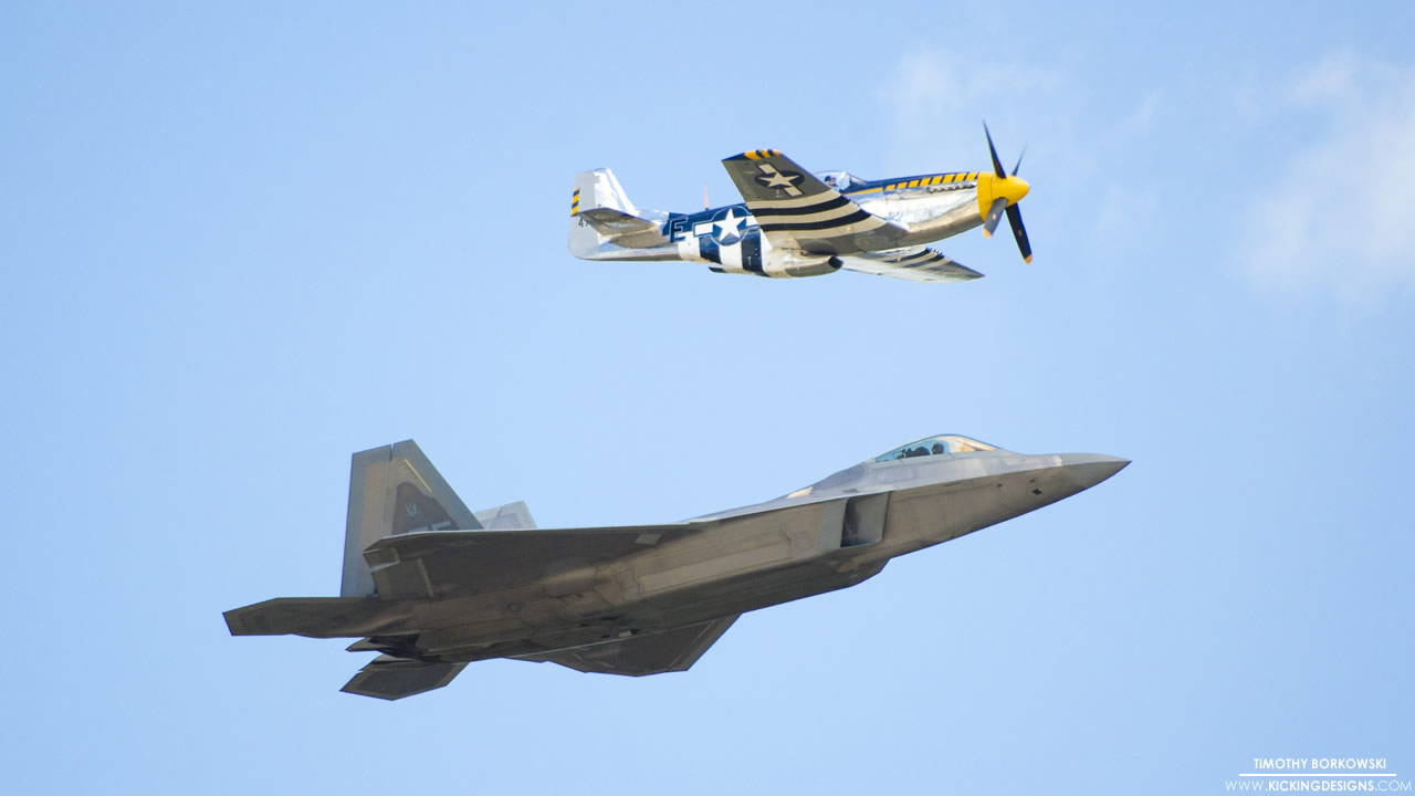 F 22 Raptor And P 51 Mustang 6 7 2015 Wallpaper Background