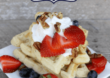 Nutty Oatmeal Buttermilk Waffles Recipe