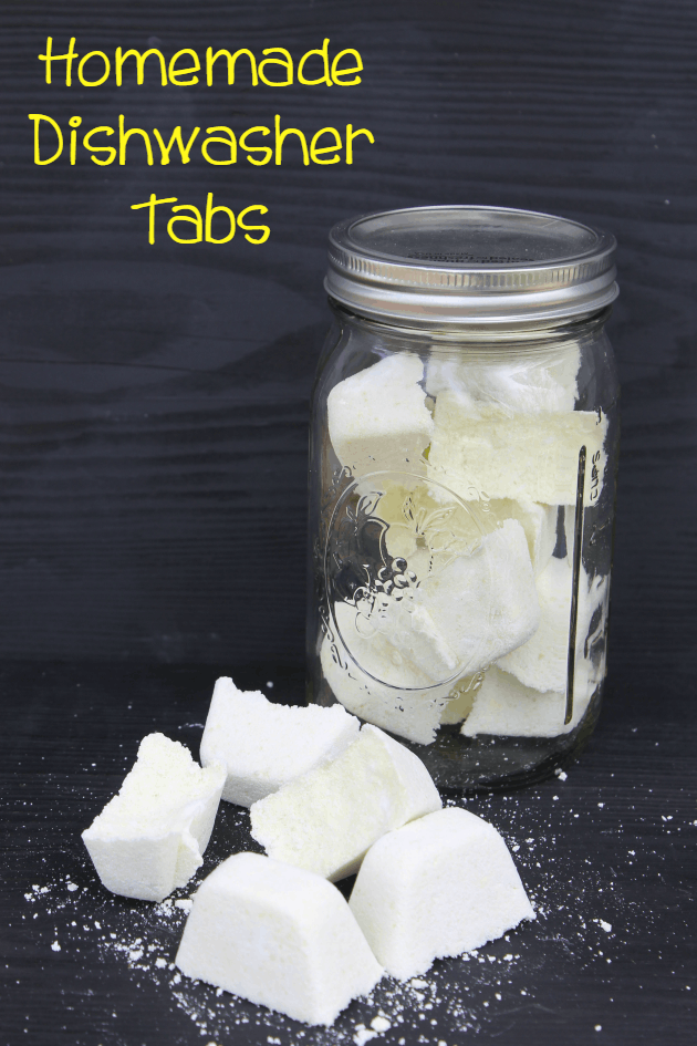 Why spend the money on store bought when you can make these amazing Homemade Dishwasher Tabs?