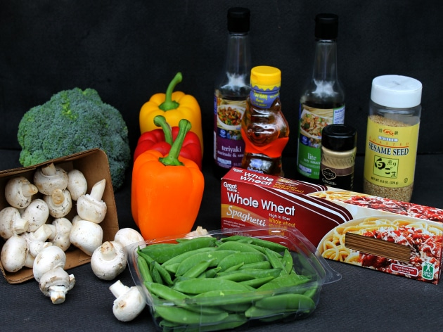 Vegetable Lo Mein Ingredients
