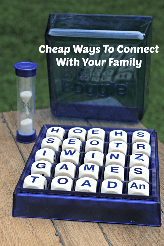 Cheap Ways To Connect With Your Family pin