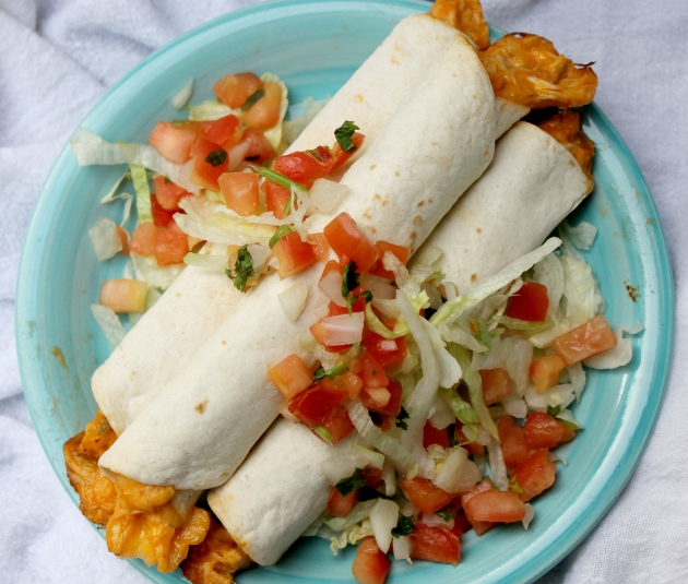 cheesy crockpot chicken taquitos 2