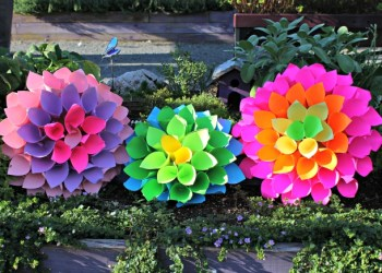 Paper Dahlia Flowers craft