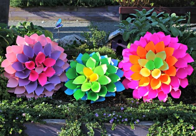 Paper Dahlia Flowers craft