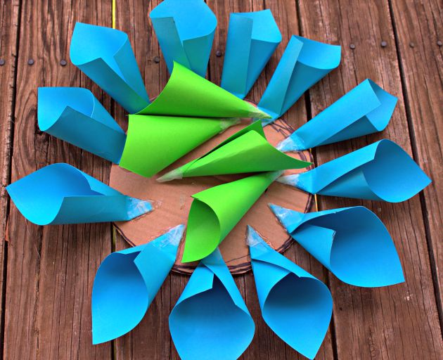 Home Decor Project: Paper Flower Craft layers