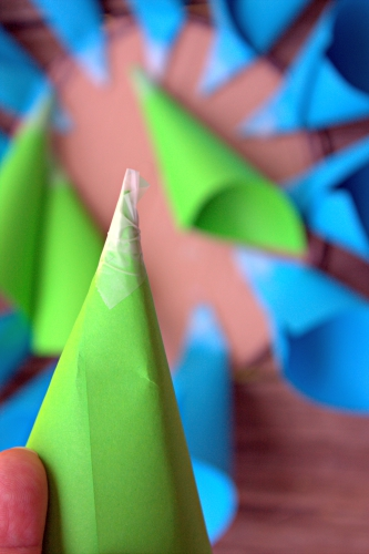 Paper Dahlia Flowers cones