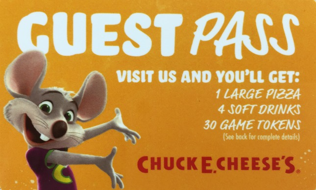 chuck e. cheese giveaway