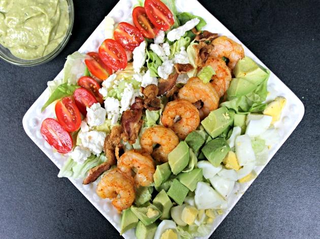 Spicy Shrimp Cobb Salad