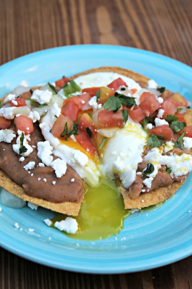Vegetarian Huevos Rancheros with Fresh Pico de Gallo