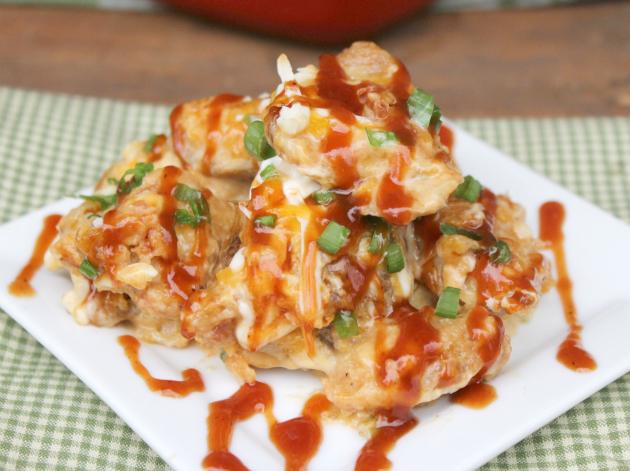 Loaded Potato Skins And Chicken Casserole #MomsWingMan #FarmRichSnacks #ad