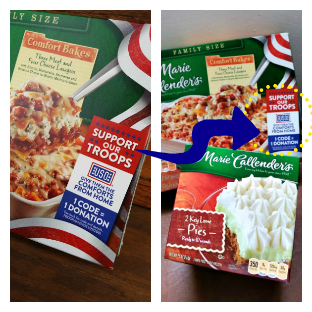 Help Our Troops Celebrate The Holidays code on box