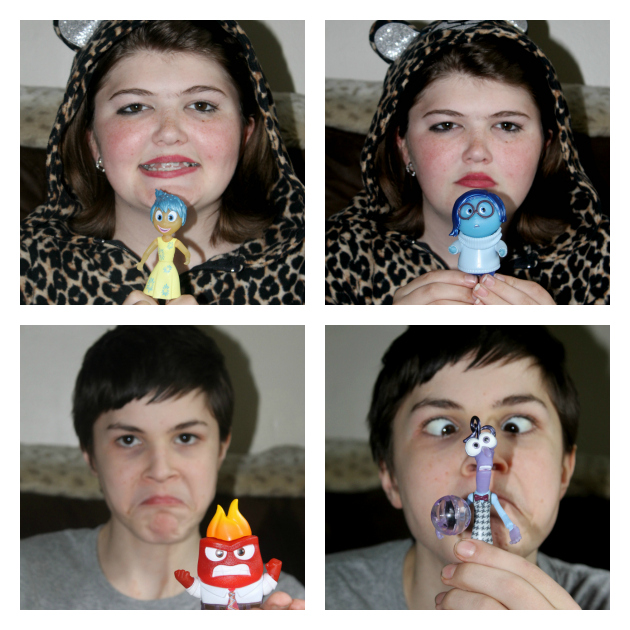 Helping Kids Express Emotions Through Play #InsideOutEmotions kids feelings Collage