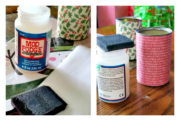 DIY Upcycled Gift Container Tutorial #PowerYourHoliday paper