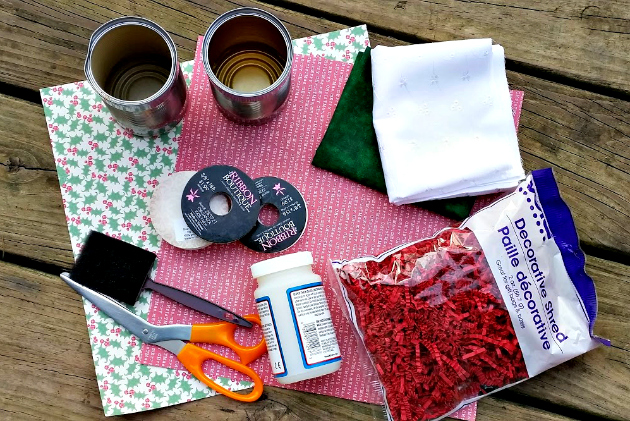 DIY Upcycled Gift Container Tutorial supplies
