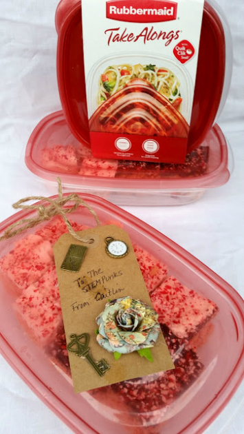 White Chocolate Peppermint Crispy Rice Cereal Treats product