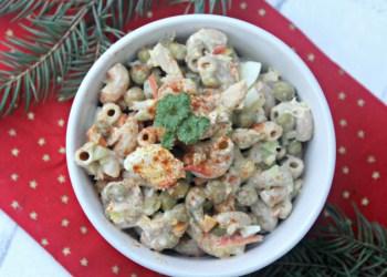 Whole Grain Deviled Egg Tuna Macaroni Pasta Salad