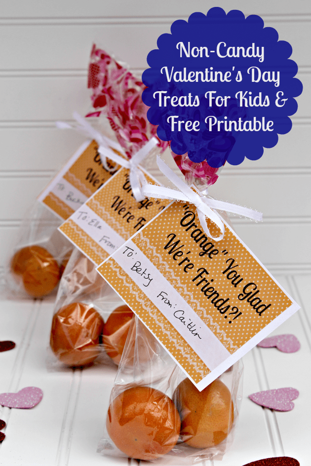 If you are looking for a healthy non-candy Valentine's Day treat for the kids, try one of these fun ideas and enjoy a free printable as well!
