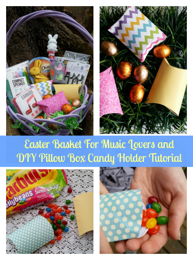 If you have a music lover in your circle, they would love this Easter Basket For Music Lovers. Fill these DIY Pillow Box Candy Holders you can make in just minutes and fill with your favorite #EasterSweets #Target #ad