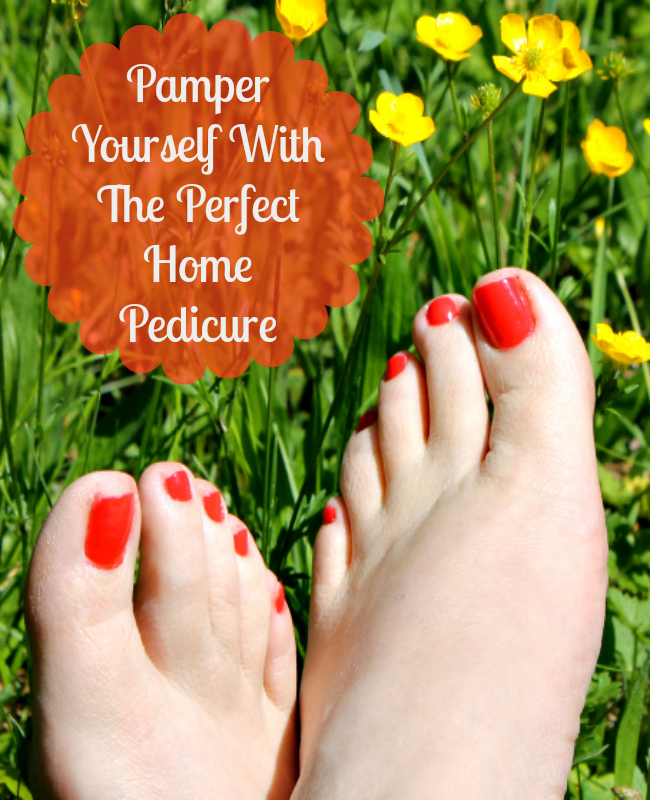 Are you ready to get your feet ready for spring? Why not pamper yourself with a home pedicure and show them off? #ad
