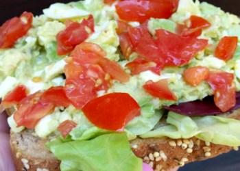 Spicy Avocado Egg Salad Recipe close toast