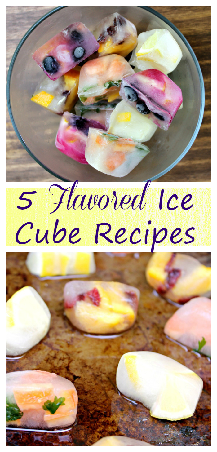 Tired of blah water? Try adding one of these Five Fantastically Flavored Ice Cube Recipes