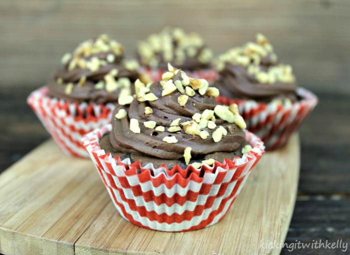 Banana Nut Fudge Brownie Cupcakes