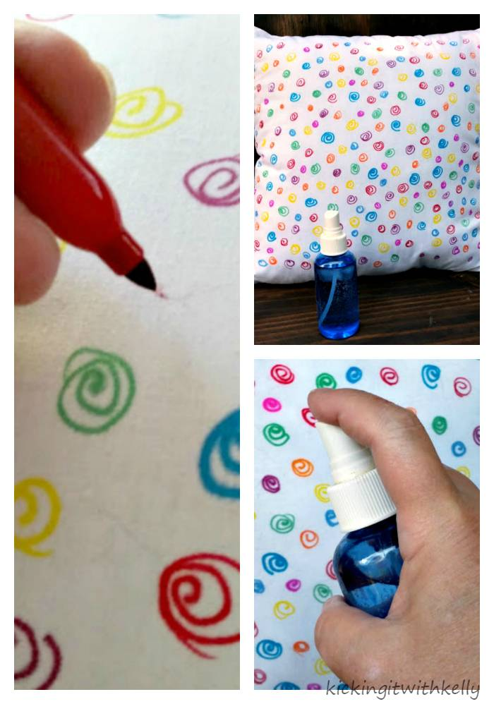 Your Sharpie Style DIY Watercolor Pillow Collage