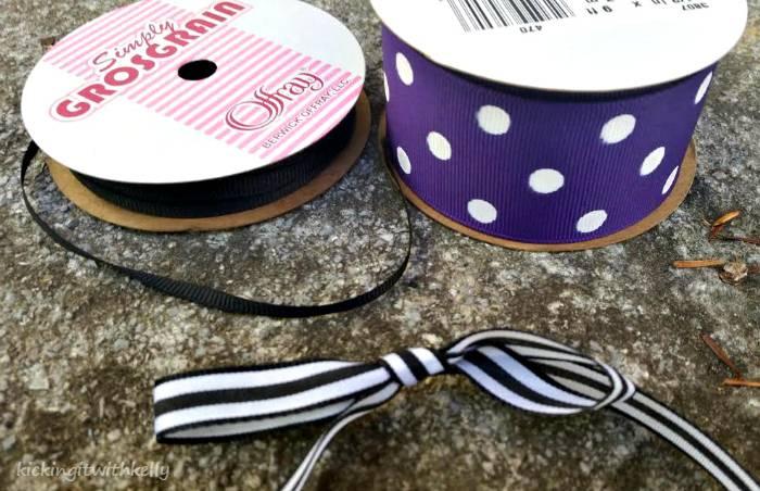Washi Tape Mason Jar Bands Halloween Wreath bow